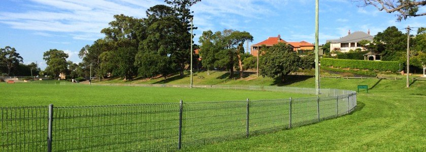 cricket oval fence - chainwire fencing newcastle, fencing newcastle