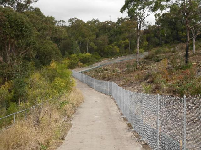 cycleway fence - chainwire fencing newcastle, fencing newcastle