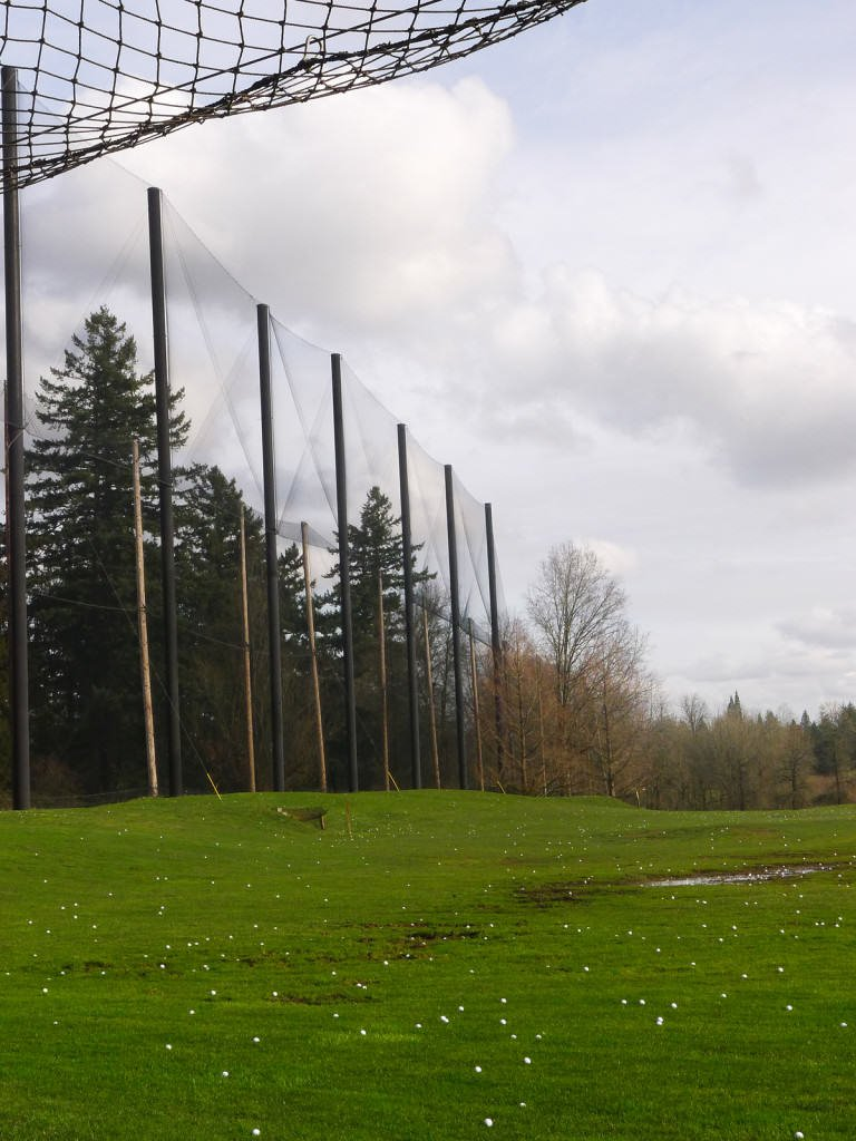 Driving Range With Protective Netting - chainwire fencing newcastle, fencing newcastle