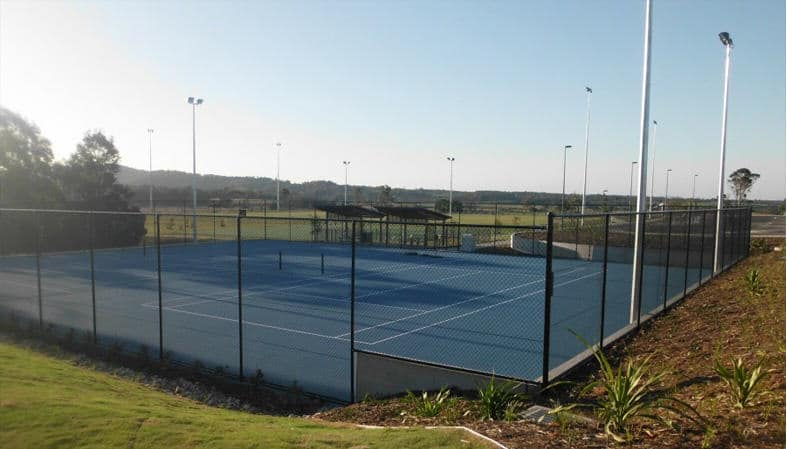 tennis court chainwire fencing newcastle, fencing newcastle