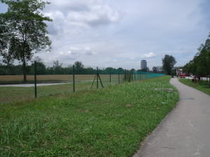 Chain_link_fence_surrounding_a_field_in_Jurong,_Singapore