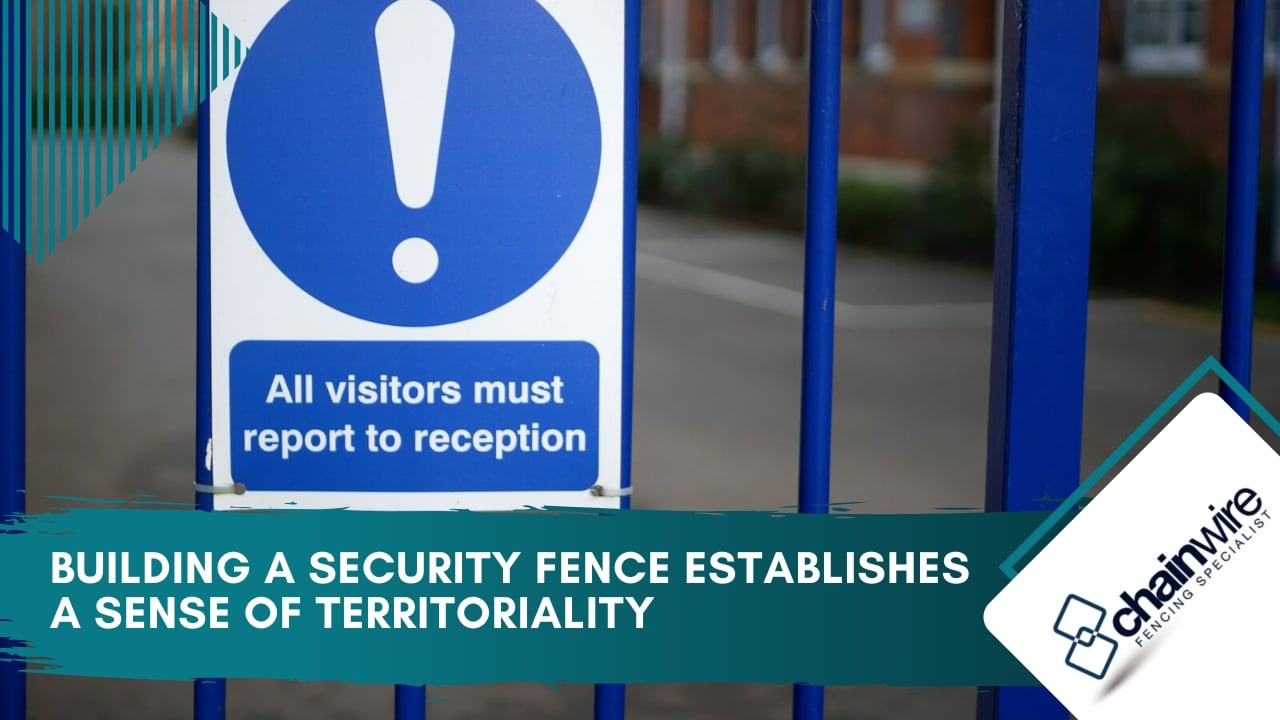 Building a security fence establishes a sense of territoriality