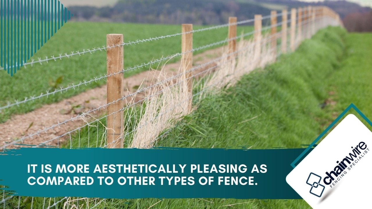 It is more aesthetically pleasing as compared to other types of fence.