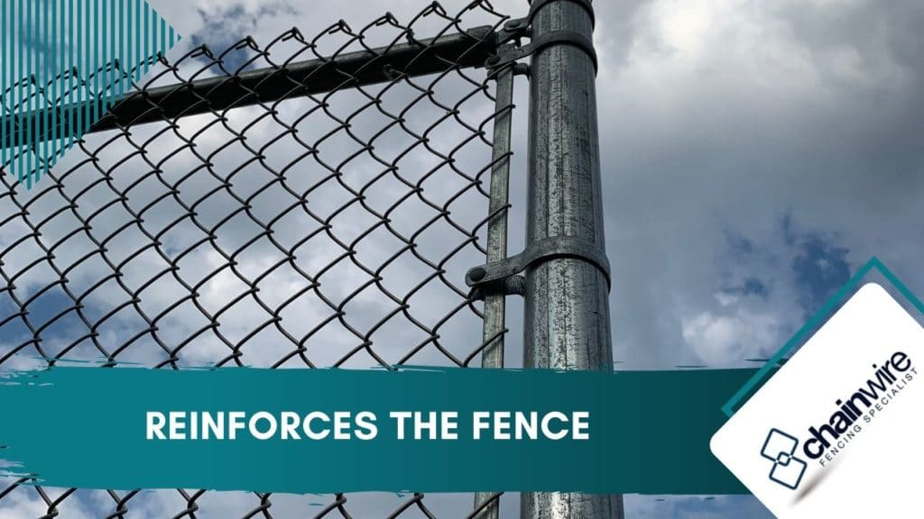 Reinforces the fence