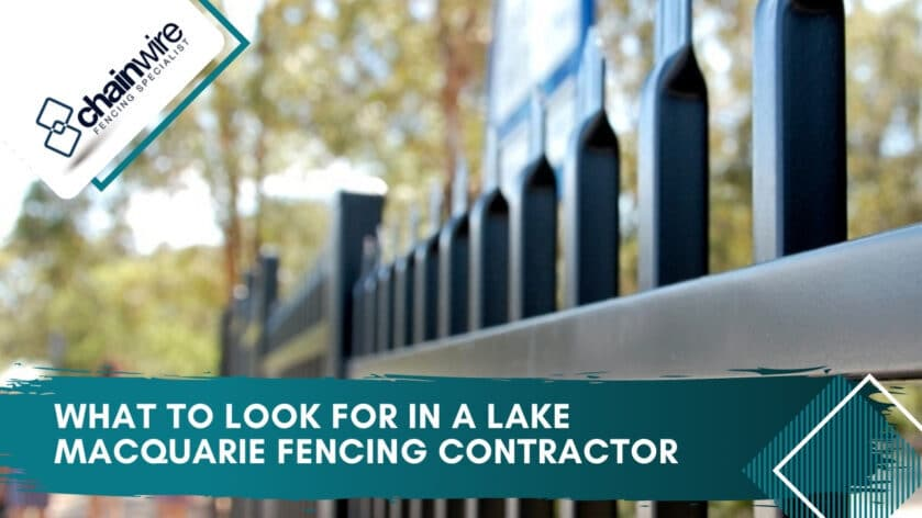 What to Look For in a Lake Macquarie Fencing Contractor