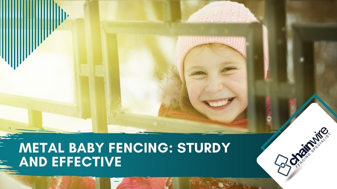 Metal Baby Fencing Sturdy and Effective
